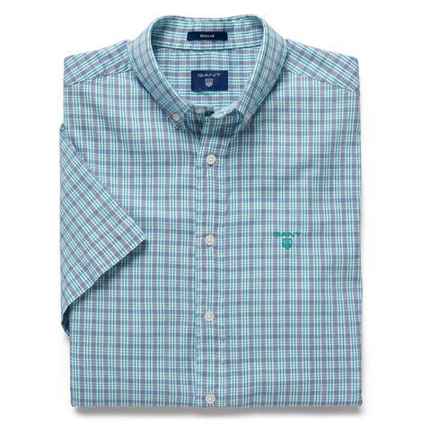 Gant  Windblown Oxford Stripe Reg Erkek Yeşil Gömlek