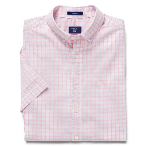 Erkek Pembe Kareli  Windblown Oxford Stripe Reg Gomlek