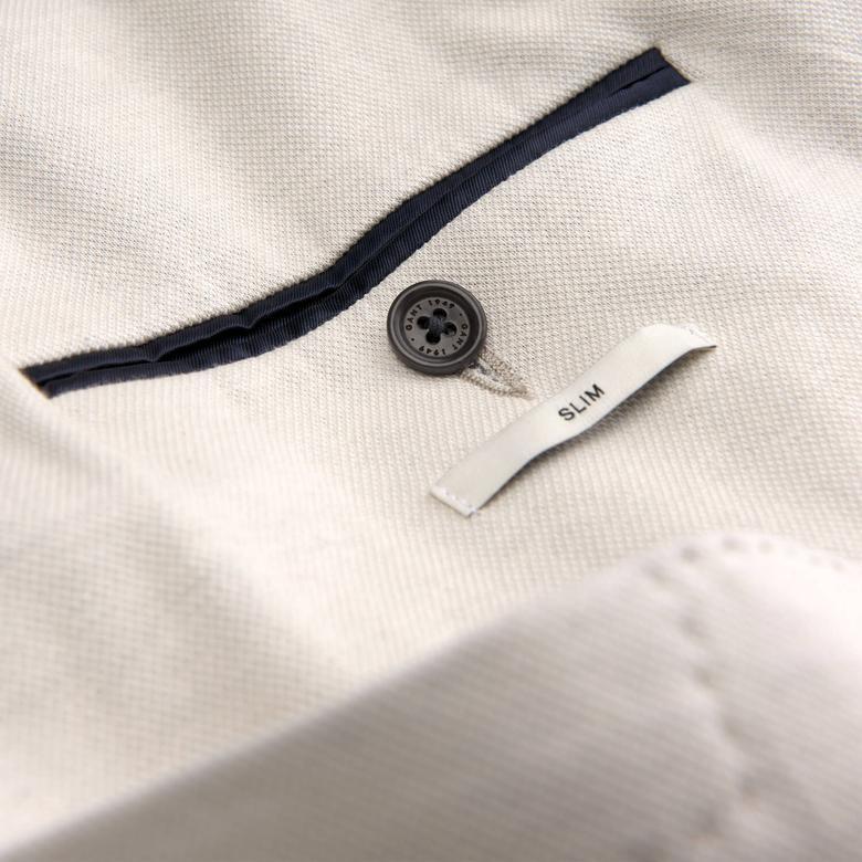 Gant The Cotton Piqué Blazer Erkek Bej Ceket