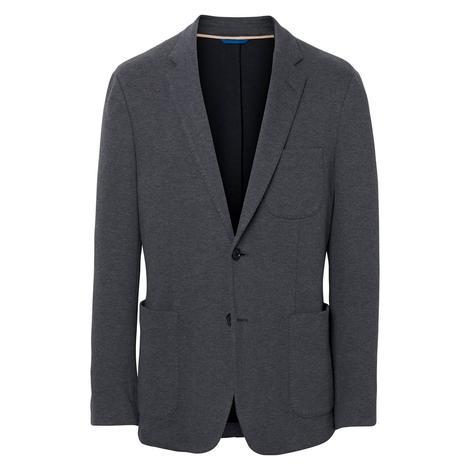 Gant The Cotton Piqué Blazer Erkek Gri Ceket