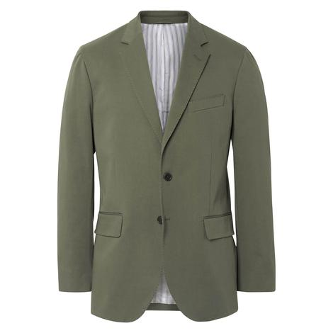 Gant The Cotton Twill Blazer Erkek Yeşil Ceket