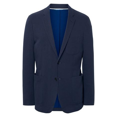 Gant The Cotton Piqué Blazer Erkek Lacivert Ceket