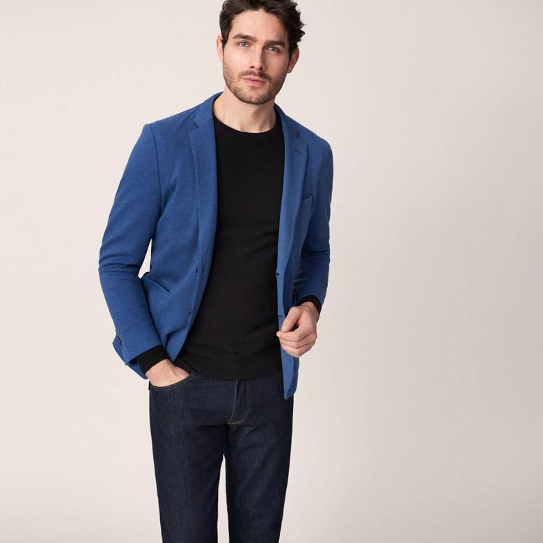 Gant Erkek Cotton Piqué Blazer Mavi Ceket