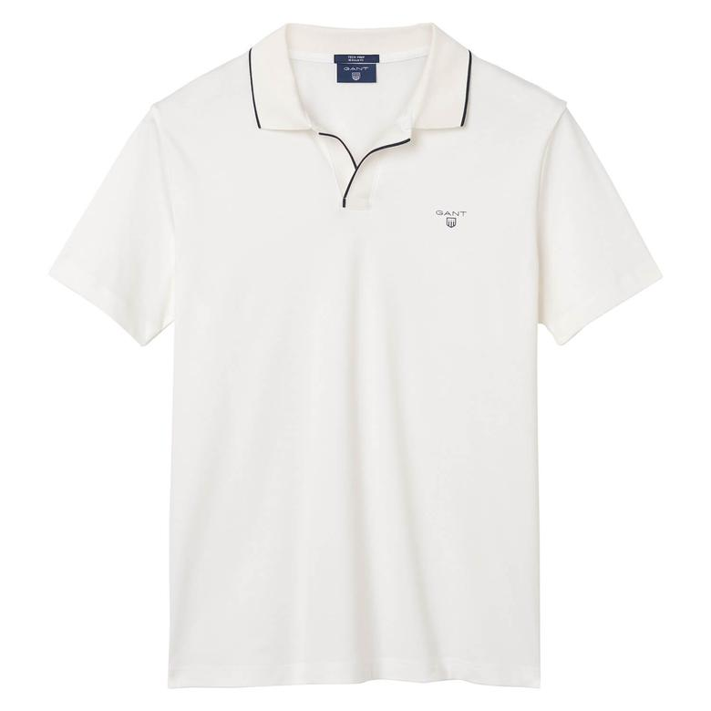 Gant Tech Prep Jersey Rugger Erkek Beyaz Regular Fit Polo