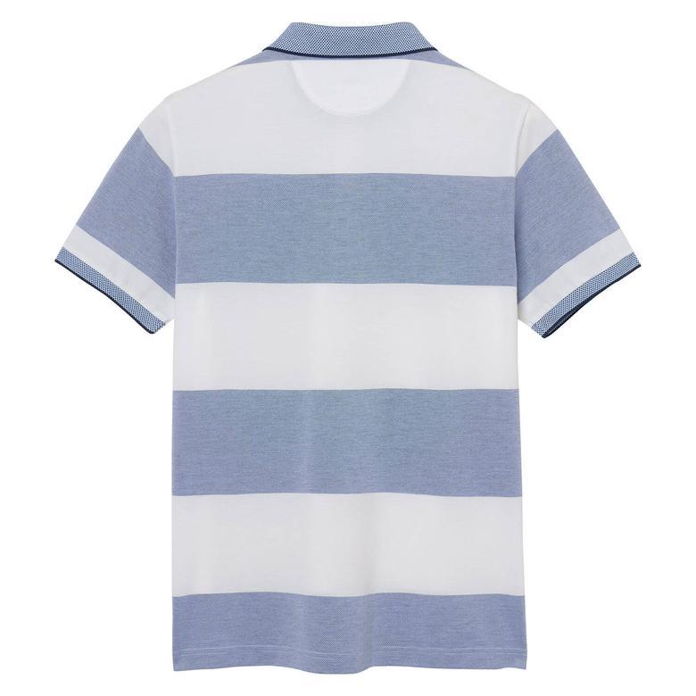 Gant Four-Color Oxford Stripe Rugger Erkek Mavi Regular Fit Polo