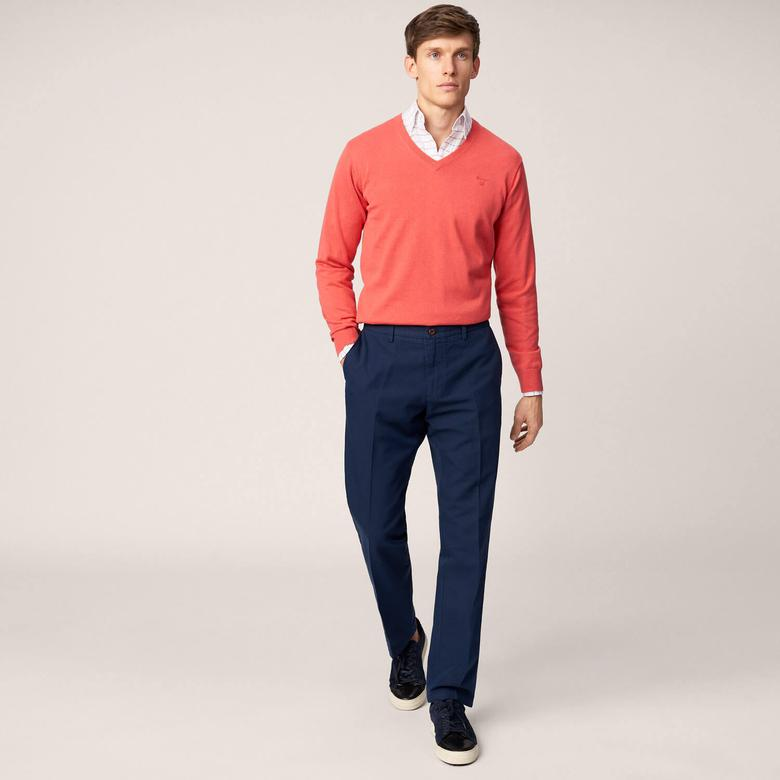 Gant Erkek Chino Lacivert Regular Fit Pantolon