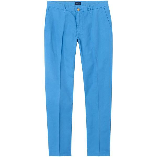 Gant Regular Cotton Linen Chinos Erkek Mavi Pantolon