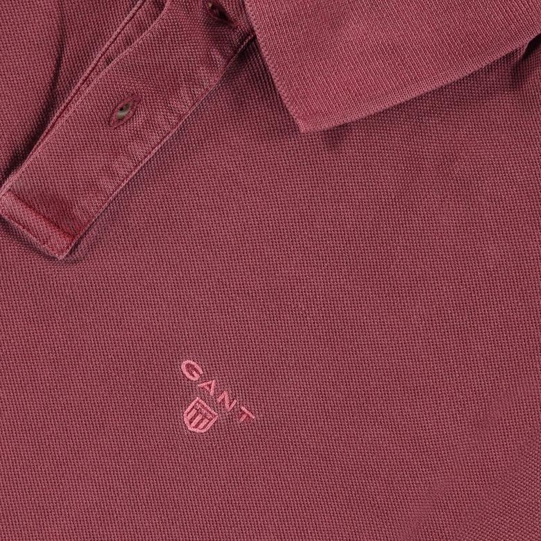 Gant Sunbleached Pique Erkek Bordo Polo