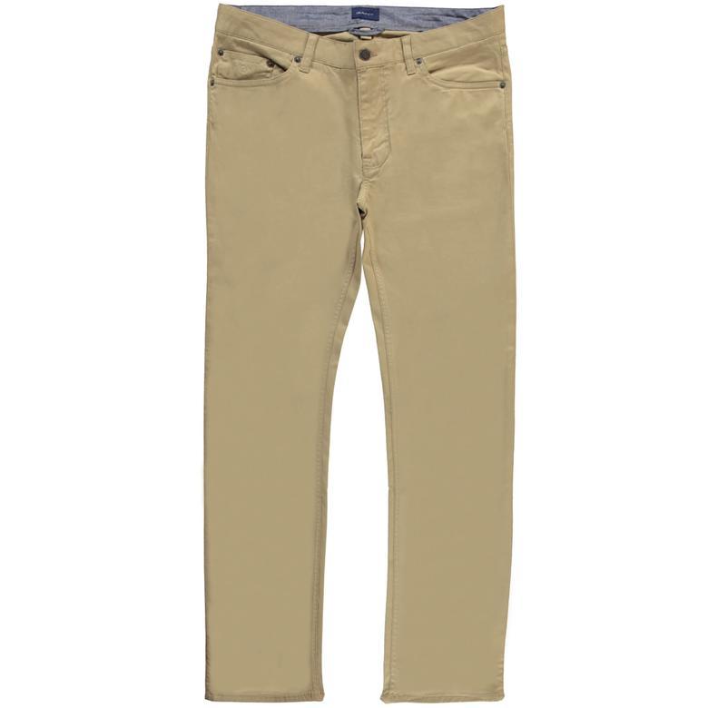 Gant Slim Twill Jeans Erkek Bej Pantolon