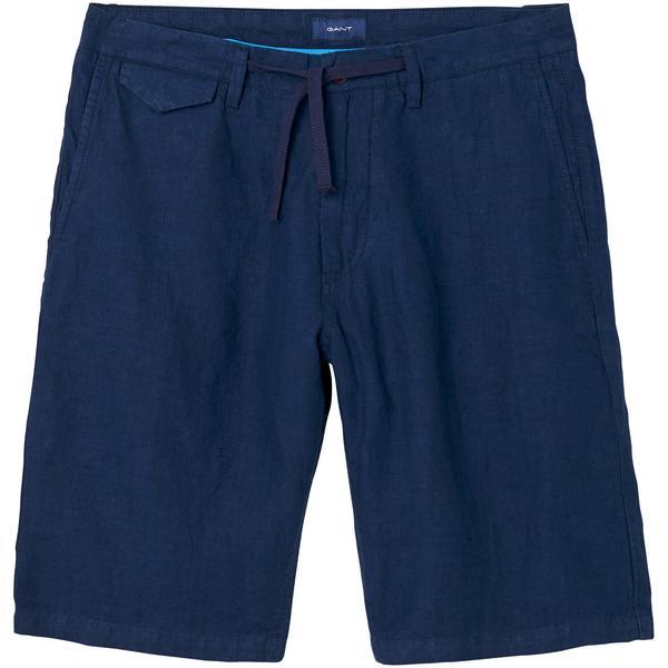 Gant Relaxed Linen Shorts Erkek Lacivert Şort