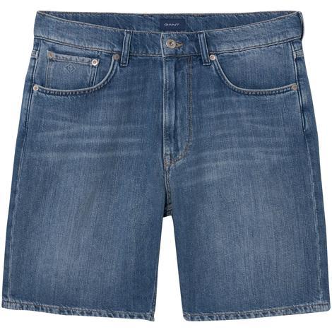 Gant Relaxed Linen Denim Shorts Erkek Mavi Şort