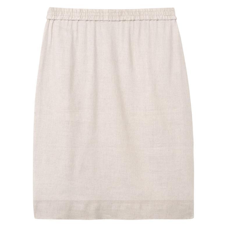 Gant Linen Skirt Kadın Bej Etek