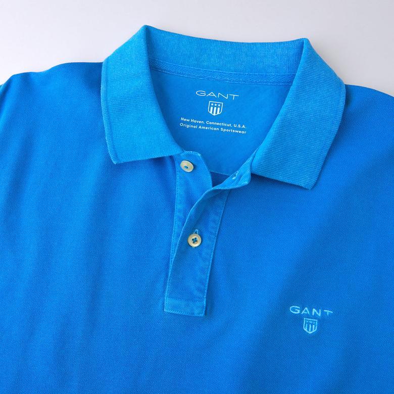 Gant Erkek Vintage Mavi Regular Pike Polo