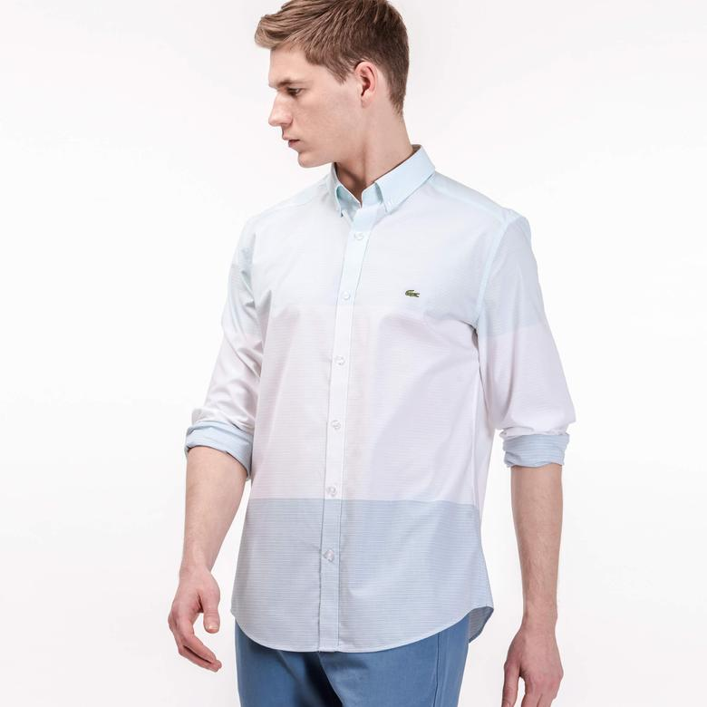Lacoste Erkek Slim Fit Beyaz Gömlek
