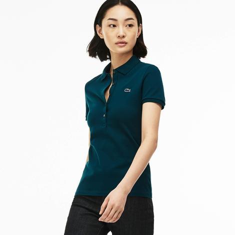 Lacoste Slim Fit Kadın Yeşil Polo