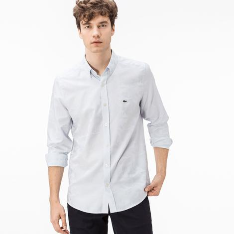 Lacoste Erkek Mavi Slim Fit Gömlek