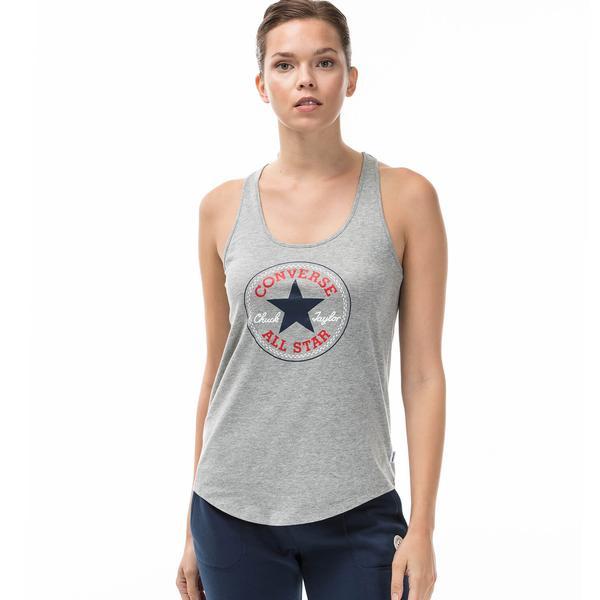 Converse Patch Classic Kadın Gri Tshirt