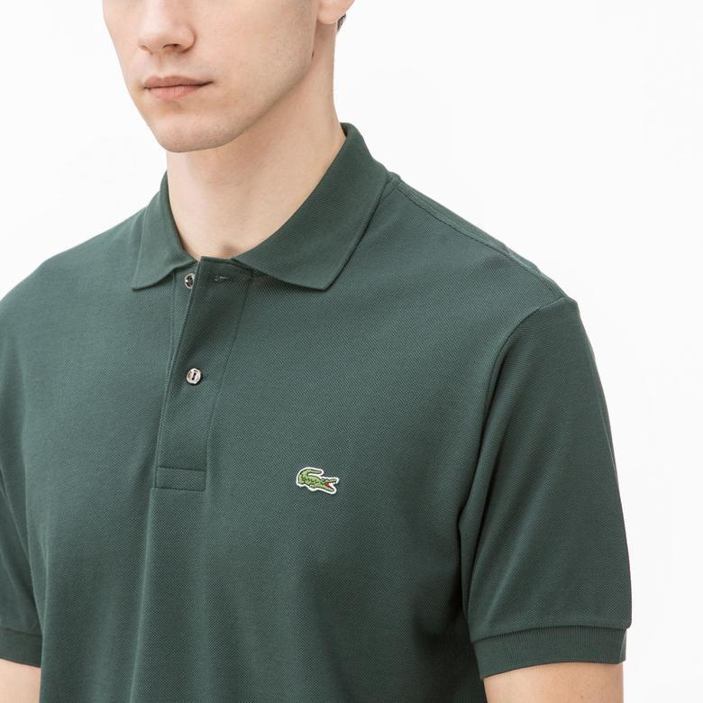 Lacoste Erkek Yeşil L1212 Klasik Fit Polo