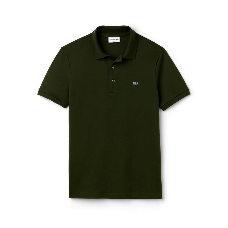 Lacoste Slim Fit Erkek Yeşil Polo