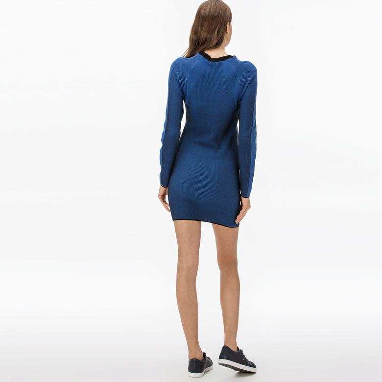 Lacoste Kadın Saks Mavi Elbise