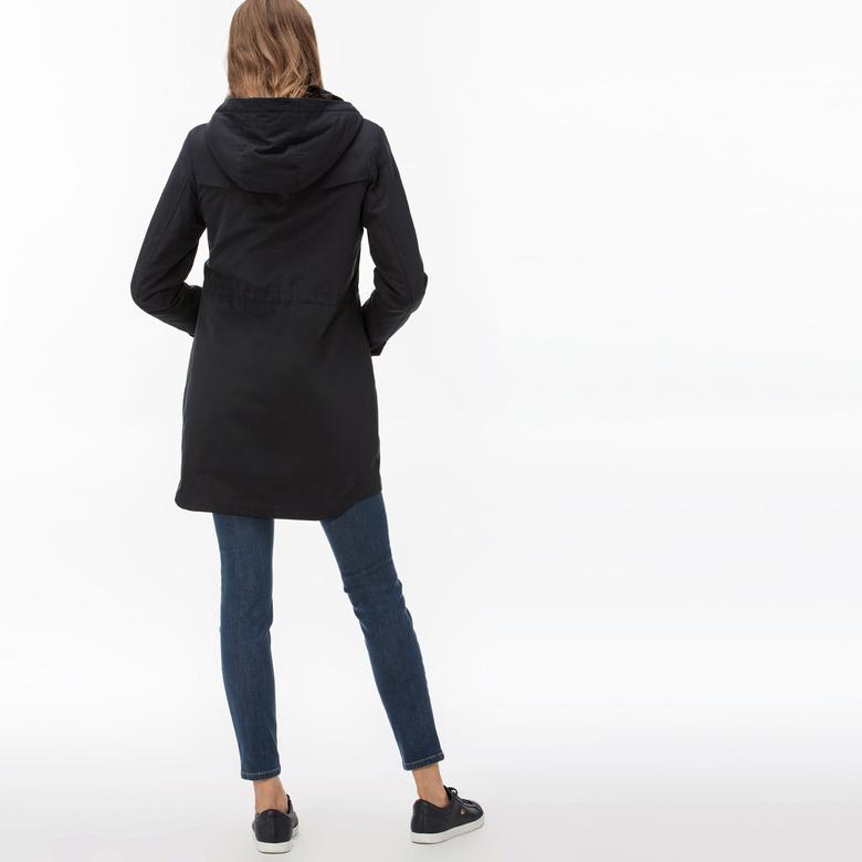 Lacoste Kadın İçi Kürklü 2'li Lacivert Uzun Mont
