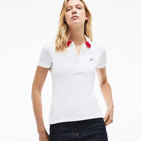 Lacoste Kadın Beyaz Polo