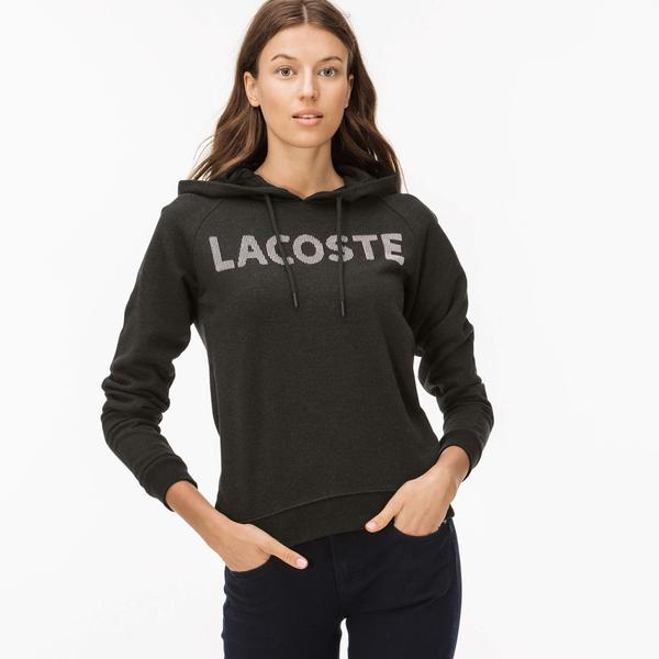Lacoste Kadın Siyah Kapüşonlu Sweatshirt