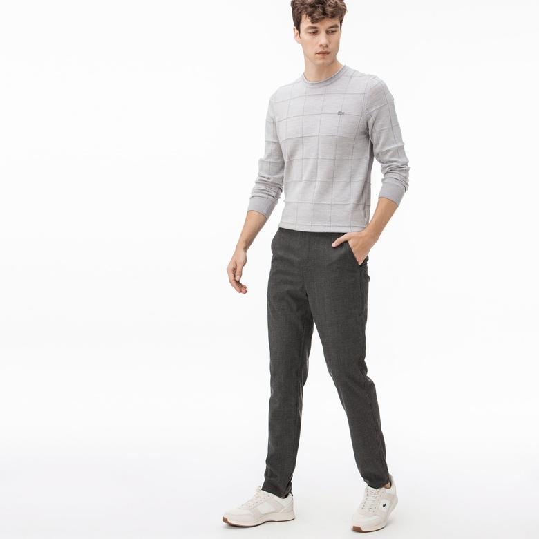 Lacoste Erkek Yün Gri Pantolon