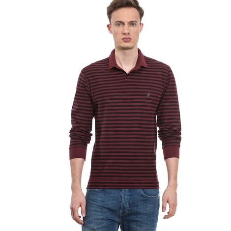 Nautica Erkek Bordo Slim Fit Polo