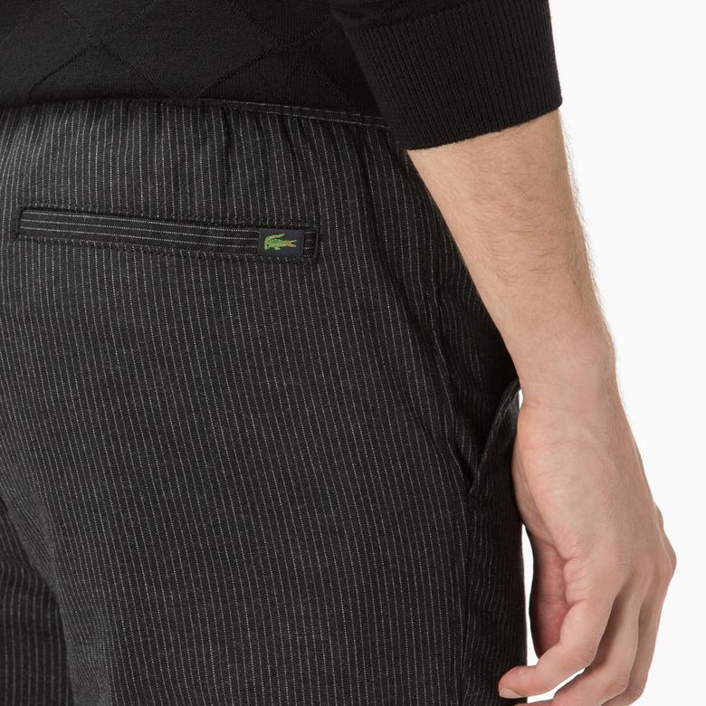 Lacoste Erkek Yün Siyah Pantolon