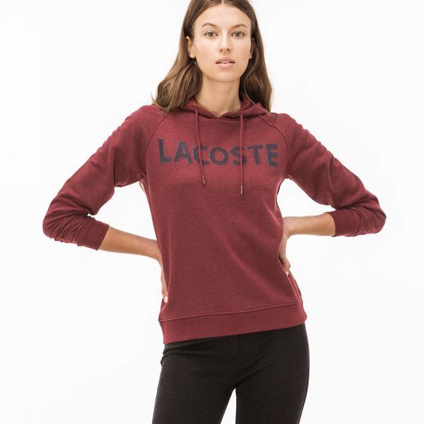Lacoste Kadın Bordo Kapüşonlu Sweatshirt