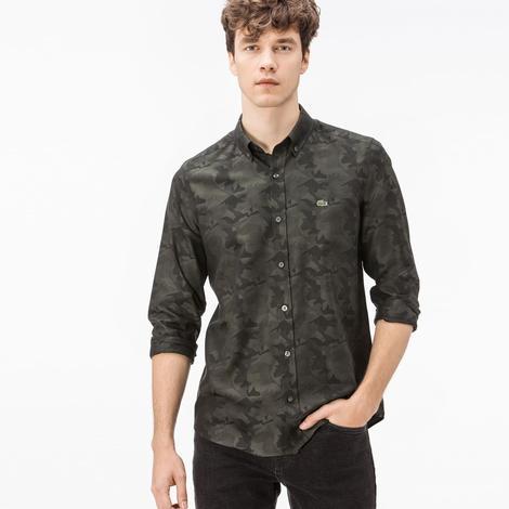 Lacoste Erkek Koyu Yeşil Slim Fit Gömlek