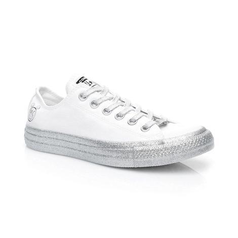 Converse X Miley Cyrus Chuck Taylor All Star ''Glitter'' Kadın Beyaz Sneaker