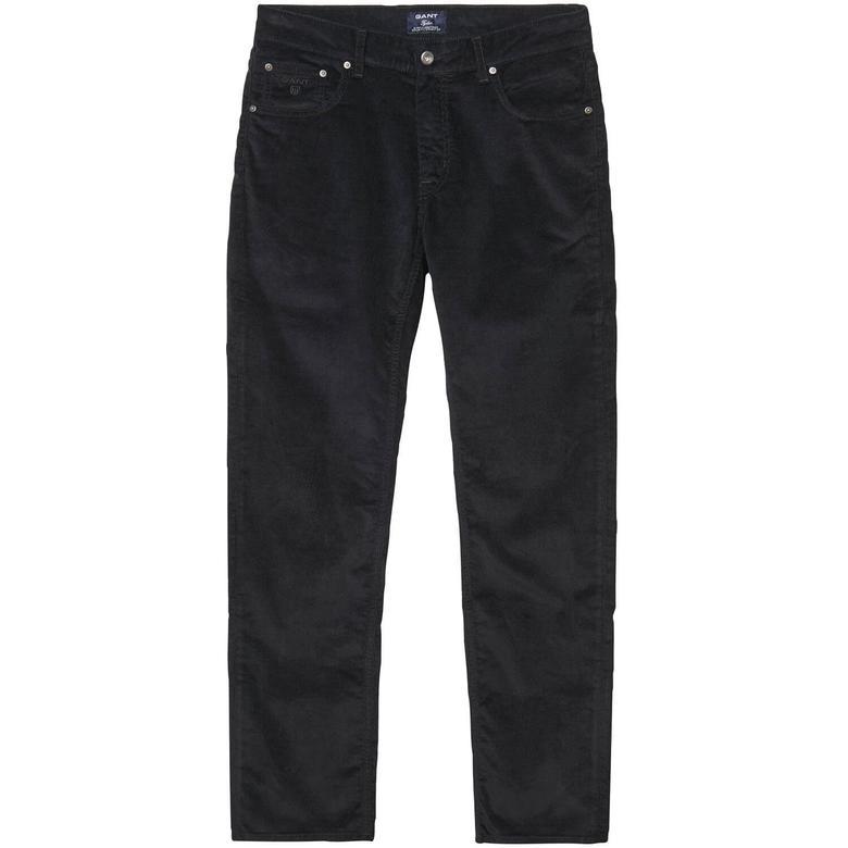 Stone Cord Kadife Erkek Siyah Regular Pantolon