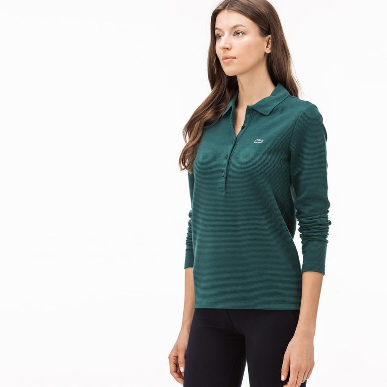 Lacoste Kadın Yeşil Uzun Kollu Polo