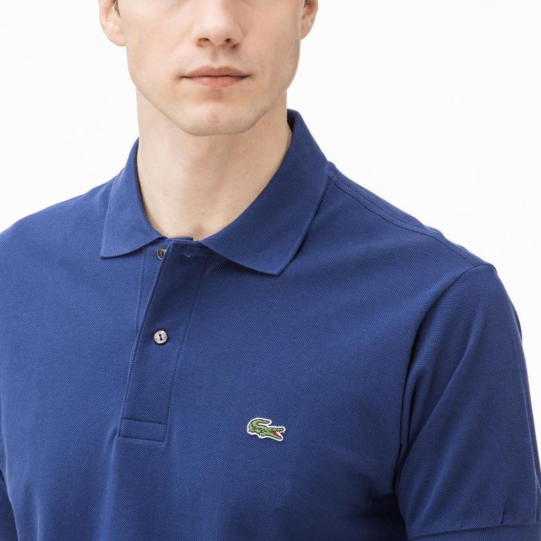 Lacoste Erkek L1212 Klasik Fit Lacivert Polo