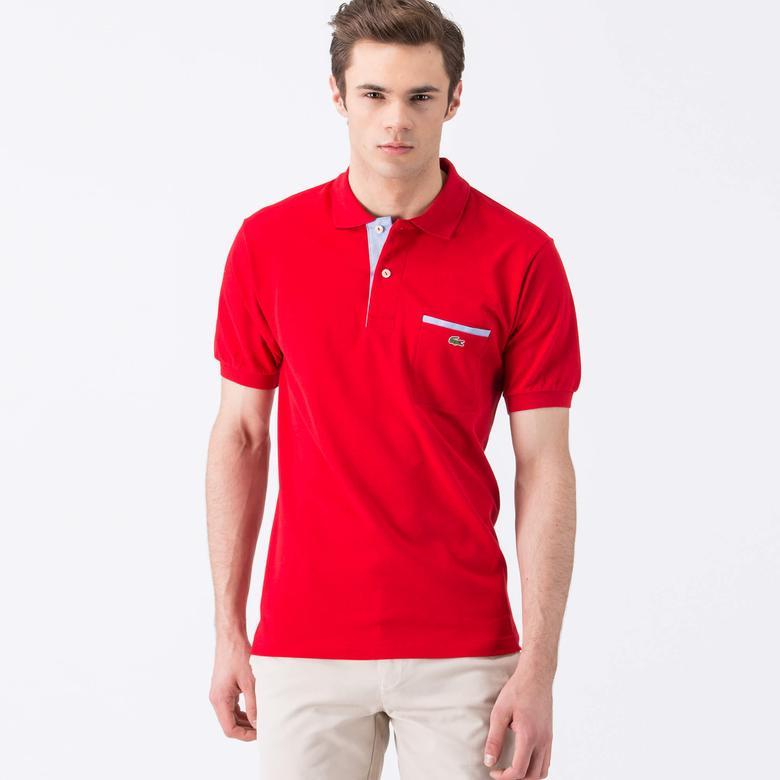 Lacoste Erkek Kırmızı Klasik Fit Kısa Kollu Polo