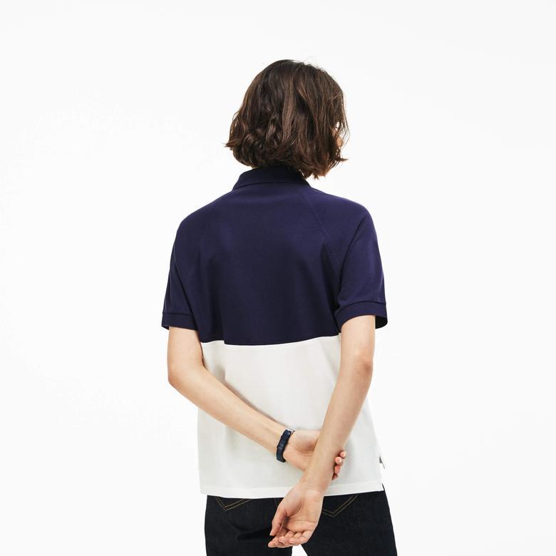 Lacoste Kadın Lacivert Slim Fit Kısa Kollu Polo