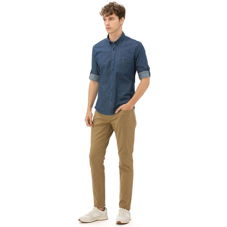 Nautica Erkek Slim Fit Kahverengi Pantolon