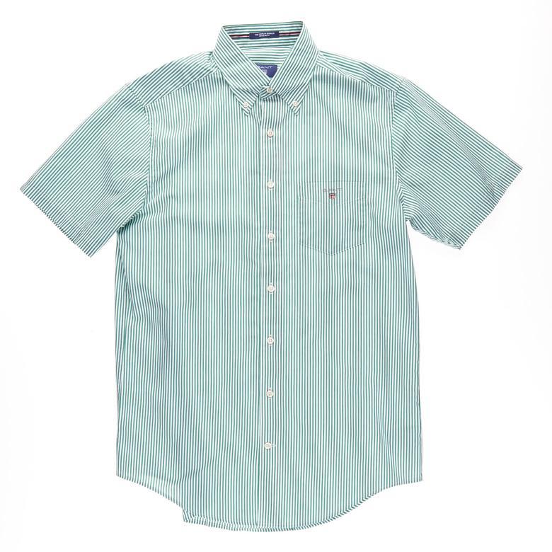 Gant Erkek Yeşil Kısa Kollu Regular Fit Gömlek
