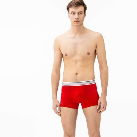 Lacoste Erkek 3'lü Renkli Boxer Seti