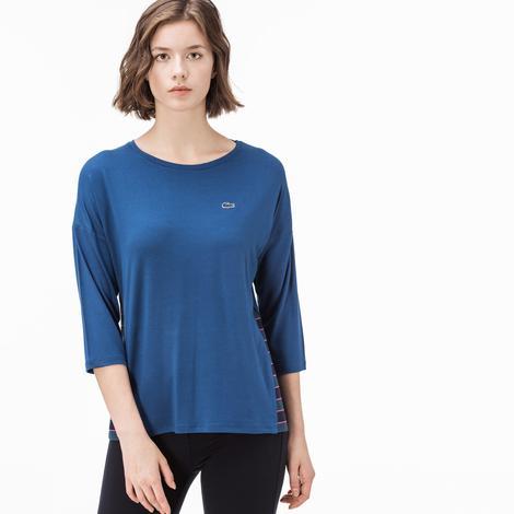 Lacoste Kadın Saks Mavi Tshirt