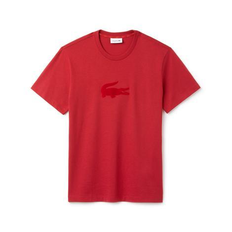 Lacoste Erkek Timsah Nakışlı Kırmızı T-Shirt
