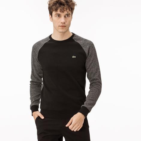 Lacoste Erkek Siyah Baskılı Sweatshirt