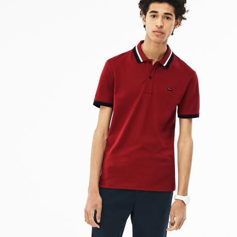 Lacoste Erkek Bordo Slim Fit Polo