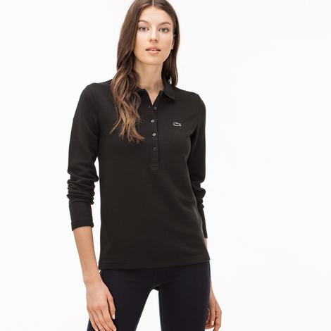 Lacoste Kadın Siyah Uzun Kollu Polo