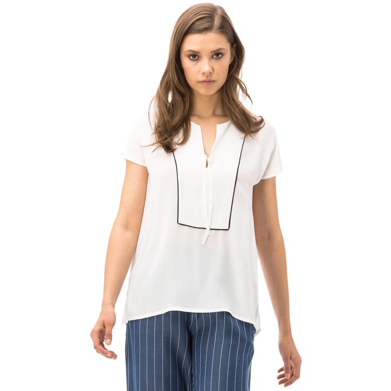 Nautica Kadın Beyaz Bluz