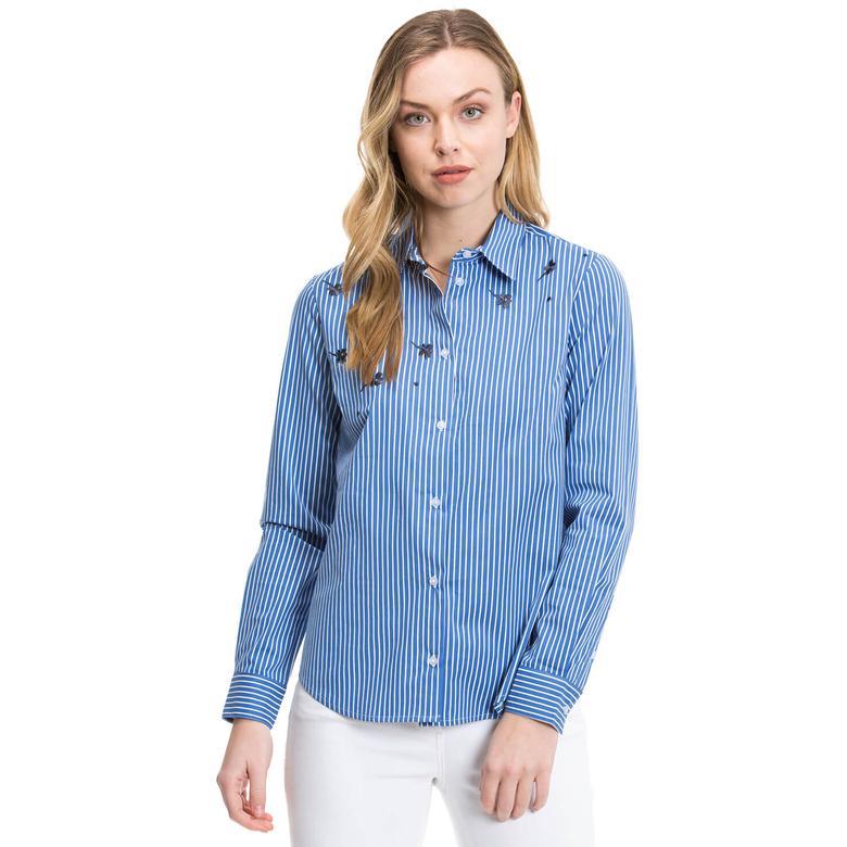 Nautica Kadın Mavi Regular Fit Gömlek