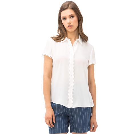 Nautica Kadın Beyaz Regular Fit Gömlek