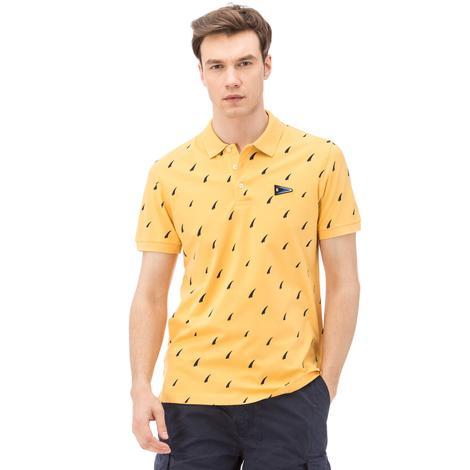 Nautica Erkek Sarı Slim Fit Polo